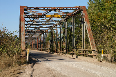 Iron Truss bridge over Ninnescah River - northeast Sumner County
