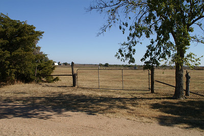 Entrance to Worden Cemetery Northeast of Anson