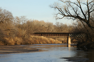 Railroad bridge over Chickaskia River southwest of Corbin