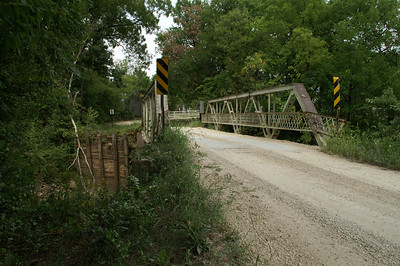 Bloody Run Creek iron truss bridge near Humboldt