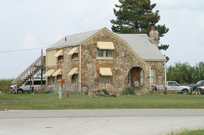 Stone house west of Iola