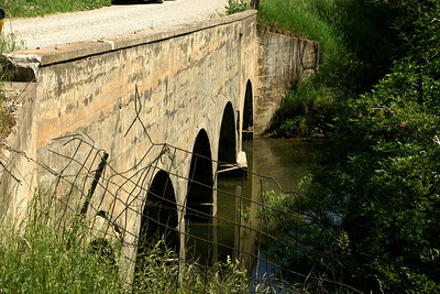 Concrete arch bridge over Saline Creek - eastern Anderson County