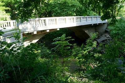 Concrete arch bridge over South Fork Pottawatomie Creek in Greeley