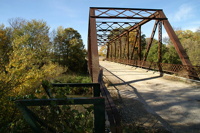 Iron Truss Bridge over Cottonwood River near Cedar Point