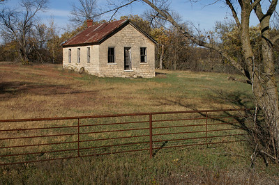 Stone building along Middle Creek west of Elmdale