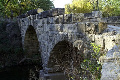 Diamond Creek stone arch bridge near Elmdale