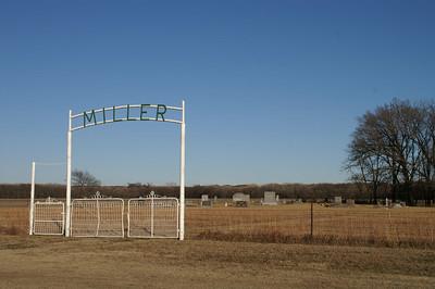 Miller Cemetery northeast of Bazaar