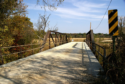 Iron truss bridge over Caney River - western Chautauqua County