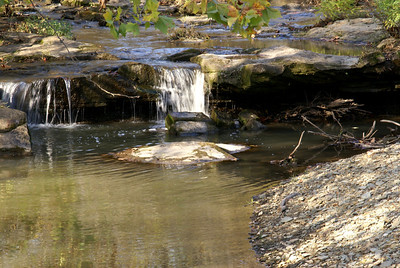 Small waterfall on Bakers Branch Middle Caney River