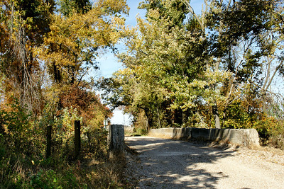 Old concrete bridge over Cherry Creek - western Cherokee County