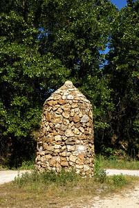 Stone marker at southeast corner of Kansas
