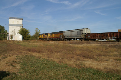 UP train passing Aliceville - southeast Coffey County
