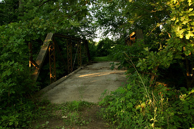 Closed pony truss bridge over Cox Creek - far northeast Crawford County