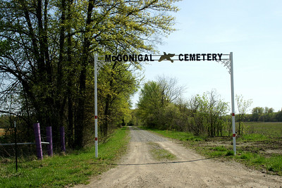 Entrance to McGonigal Cemetery near Farlington