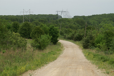 Power transmission lines crossing forest - southeast Elk County