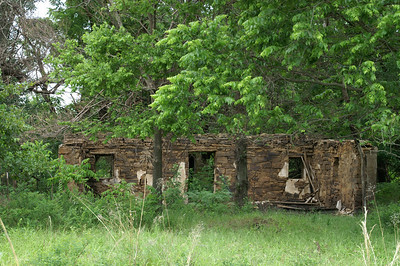Abandoned limestone building - eastern Elk County