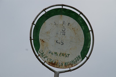 Ranch sign - east Elk County