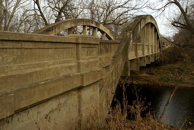 Marsh arch bridge over Bachelor Creek east of Eureka