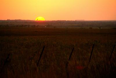 Sunset over Hamilton - eastern Greenwood County