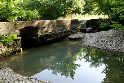 Stream and bridge west of Piedmont - southwest Greenwood County