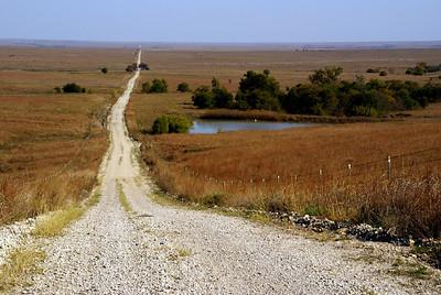 Long range vista across Otis Creek - northwest Greenwood County