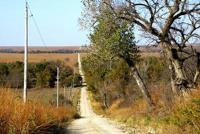 Vista across South Branch Verdigris River Valley - northwest Greenwood County
