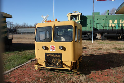 Railroad maintenance vehicle at Iron Horse Museum