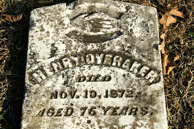 Early settler's gravestone at Trading Post Cemetery. This man was born in approx 1796!