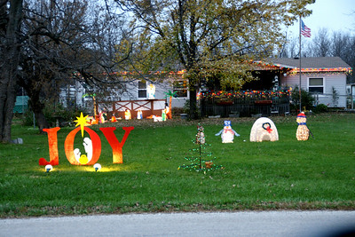 Christmas decorations in Parker