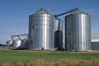 Grain bins at Miller - northern Lyon County