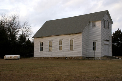 Church at Choteau Cemetery - northeast Montgomery County