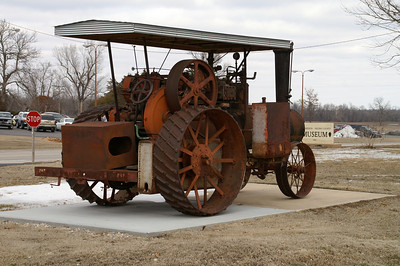 Steam tractor at museum in St Paul
