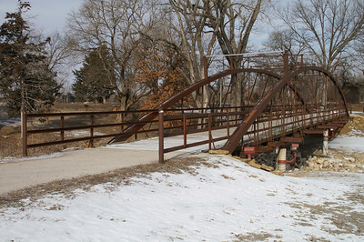 Historic Austin Bowstring Bridge in Santa Fe Park - Chanute