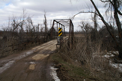 Iron Truss Bridge over Neosho River south of St Paul
