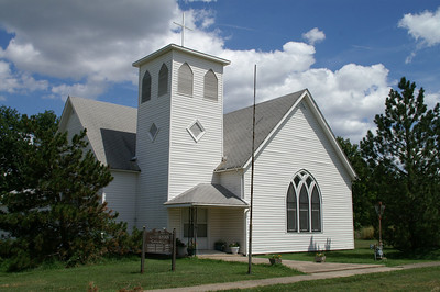 Christian church at LaFontaine - southwest Wilson County