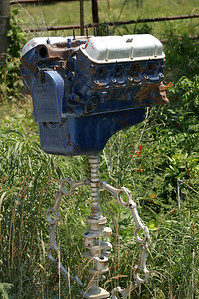 Mailbox with engine - southern Woodson County