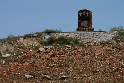 Monument atop Mount Casino northeast of Ashland