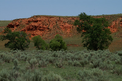 Red bluffs along RD 20 near Casino Creek northeast of Ashland