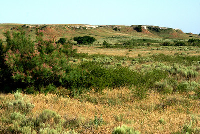 Gypsum topped buttes along Indian Creek - eastern Comanche County