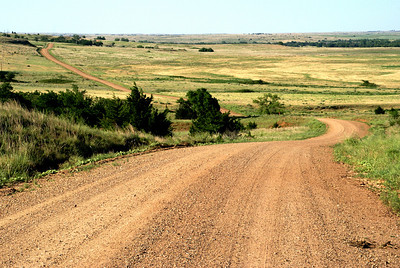 County Road 31 winding thru hills - near Comanche / Barber County line