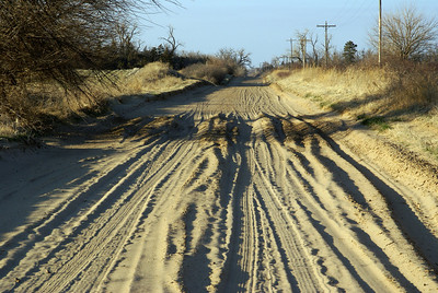 Ruts in sandy road - southeast Edwards County