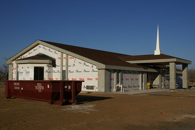New Methodist Church under construction in Trousdale