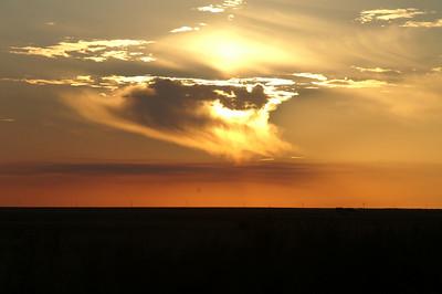 Sunset over eastern Finney County