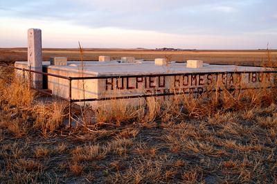 Hulpieu Homestead Cemetery northeast of Garden City