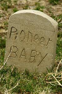 Pioneer grave in Shockey Cemetery - northwest Grant County