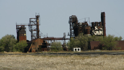 Abandoned carbon black plant near Ryus on Grant / Haskell county line