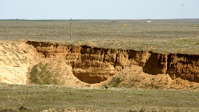 Eroded sandy ravine in southeast Grant County