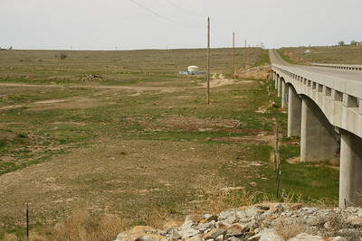 Cimmaron River channel and bridge on RD R - southeast Grant County