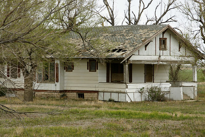 Abandoned house in northern Grant County