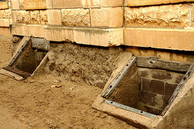 Former coal chutes? on old Greeley County Courthouse in Tribune